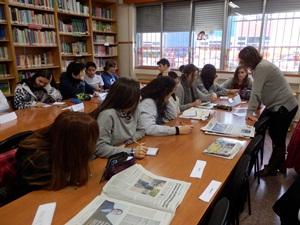 Aula de Periodismo en el IES Delicias.
