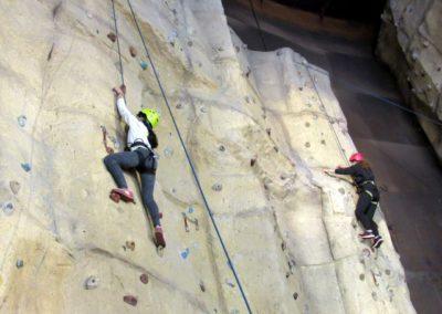 Escalada en el rocódromo de Valladolid