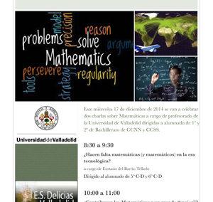 Conferencias de Matemáticas y nuevo blog