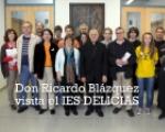 Don Ricardo Blázquez en la exposición de santa Teresa