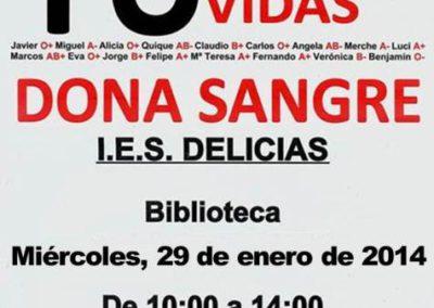 El IES Delicias impulsa la donación de sangre