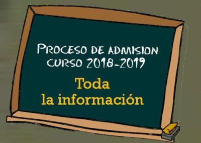 PROCESO DE ADMISIÓN (Curso 2018-2019)