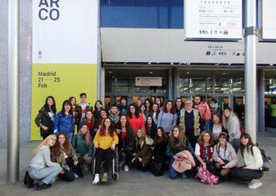 Visita de los alumnos del BIEX a ARCO 2018