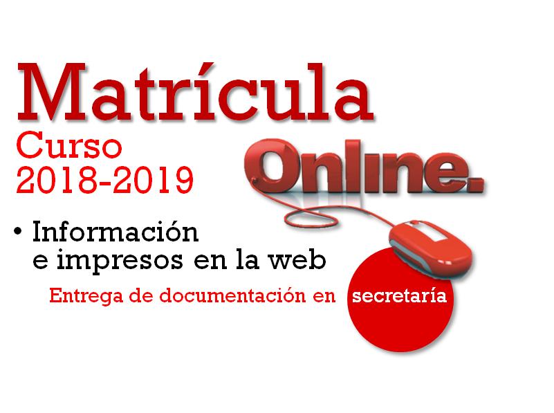 MATRÍCULA CURSO (2018-2019)