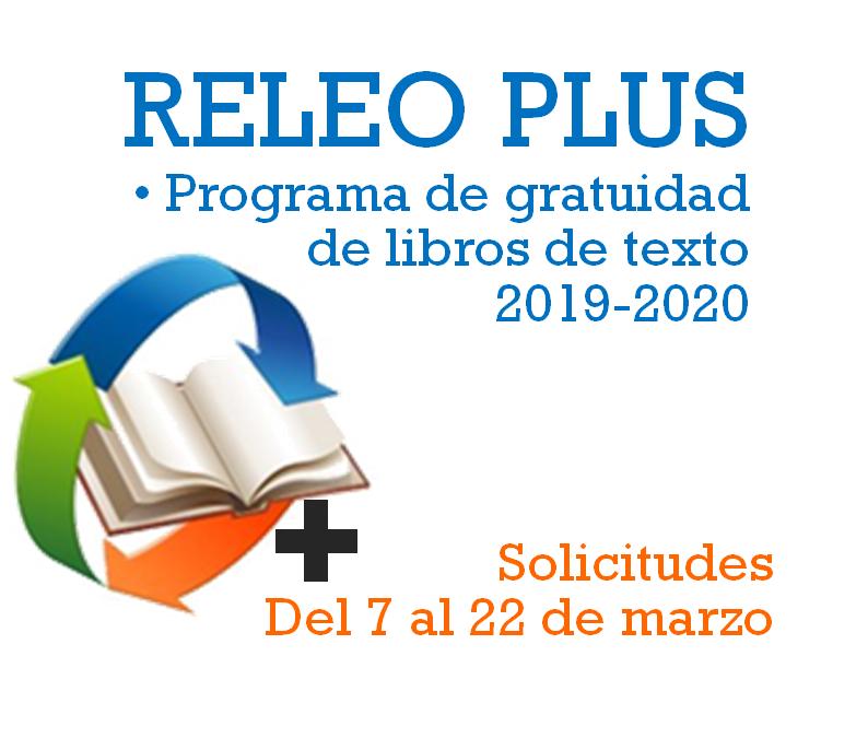 Programa de gratuidad de libros de texto RELEO PLUS 2019/2020
