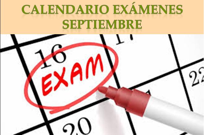 Exámenes Septiembre 2019