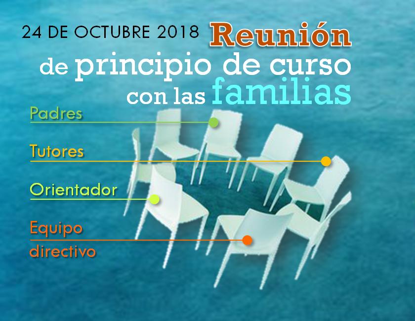 Reunión para las familias del IES Delicias