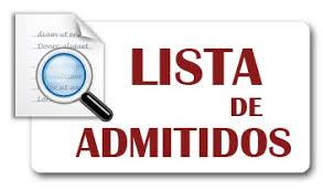 Listados Provisionales de Admitidos