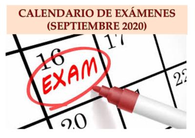 Exámenes Septiembre 2020