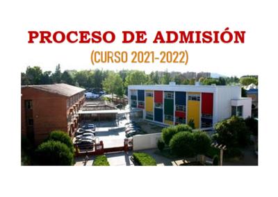 Proceso de admisión (Curso 2021/2022)