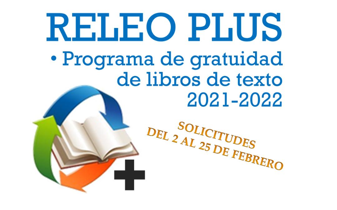Programa de gratuidad de libros de texto RELEO PLUS 2021/2022