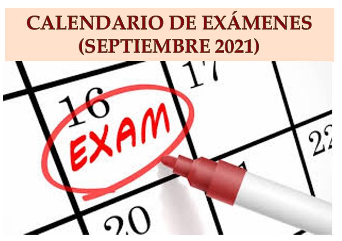 Exámenes Septiembre 2021