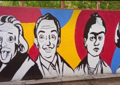 Mural interdisciplinar (Alumnos de Artes)